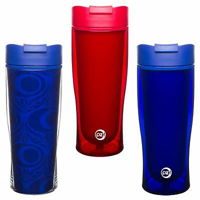 Zak! 15oz Cruise BPA Free Plastic Insulated Hot Cold Tumbler With Flip Top Lid