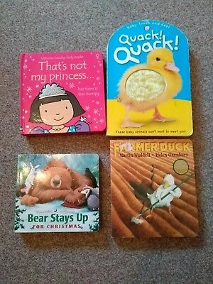 4 Toddler Baby Board Books