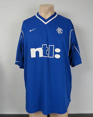 Glasgow Rangers 1999-01 home shirt Nike soccer jersey size L