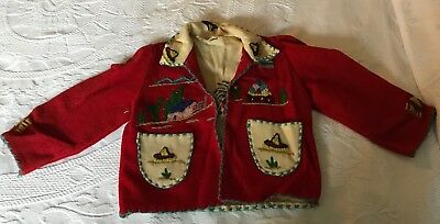 Children's Lopez Embroidered Mexican Jacket Size: 4 años - 65 Years Old