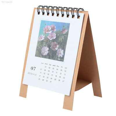 F0BE Cute 2019 Calendar Timetable Fodable Cartoon Calendar