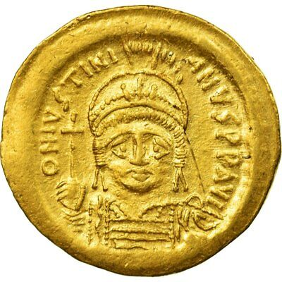 [#512179] Coin, Justinian I, Solidus, 545-565, Constantinople, AU(50-53), Gold