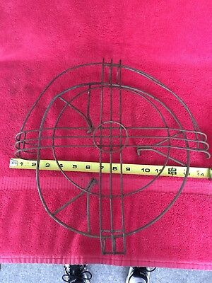 """Vintage Antique Emerson GE Westinghouse Fan Cage & Badge for 12"""" Blade Not Brass"""