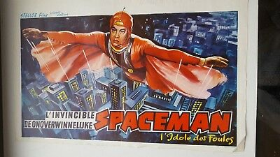 Belgian Movie Poster The Invicible Spaceman From Outer Space Ken Utsui