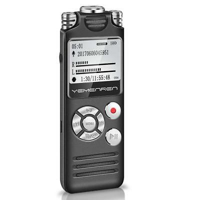 Digital Voice Recorder Yemenren USB Rechargeable 8GB Triple Mic Sound Meeting