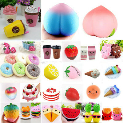 Jumbo Food Slow Rising Squishy Scented Kawaii Squeeze Toys Stress Reliever Gifts