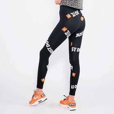 NIKE SPORTSWEAR JDI Leggings Just do it AQ9643 010 Schwarz Orange Größe M ***NEU