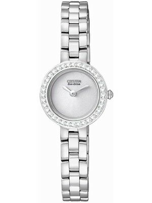 NEW Citizen White Dial Stainless Steel Band Eco-Drive Women's Watch EX1080-56A