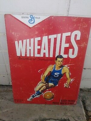 NEW Wheaties Sign Tin Metal BASKETBALL Sports General Mills Embossed