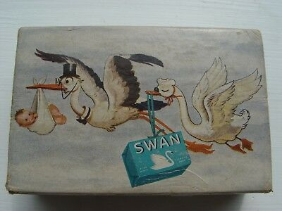 1940s SWAN SOAP Advertising, Box, Soap, Letter to Baby