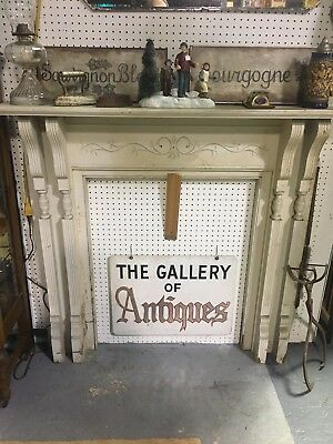 Antique Wood Carved Fireplace Mantel 51 X 48 ~ Architectural Salvage