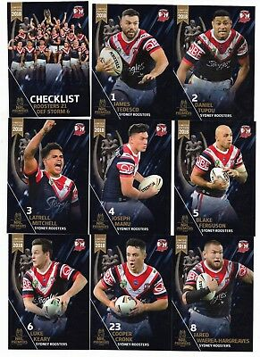 2018 Nrl SYDNEY ROOSTERS 20 Card Premiership Set (Limited to 300)