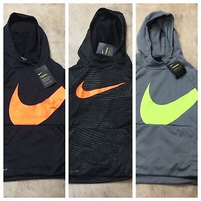 boys youth Nike therma dri-fit pullover sweatshirt hoodie hooded S M L XL 10