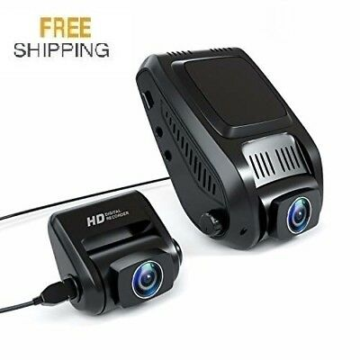 Dual Dash Cam, Tryace T20P HD Both 1080P Front and Rear Dual Lens in Car Camera