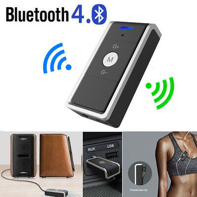 Clip Wireless Bluetooth Car Kit Hands free 3.5mm Jack AUX Audio Receiver Adapter