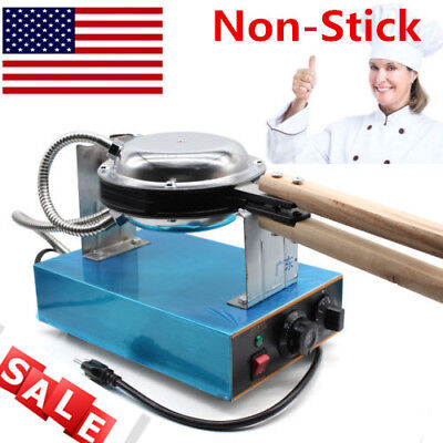 Electric Non-Stick Egg Cake Maker Oven Waffle Baker Machine Stainless Steel HOT