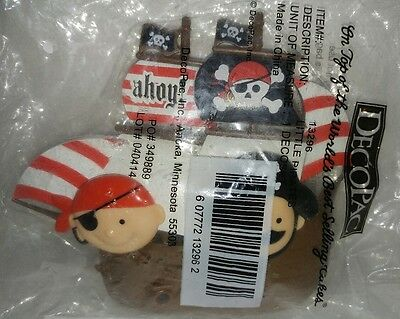 Little Pirates DecoPac Set Cake topper kit rings birthday