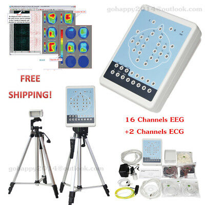 Digital Brain Electric Activity Mapping 16 channels EEG+2 channels ECG software