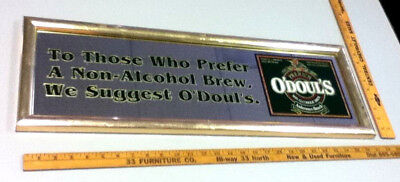 O'Doul's beer sign mirror N/A Anheuser-Busch Brewery pub tavern bar vintage NL7