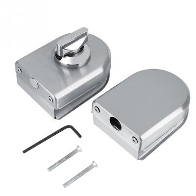 Stainless Steel Glass Door Lock 10~12mm Rotary Knob Open/Close Home Hotel Bathro
