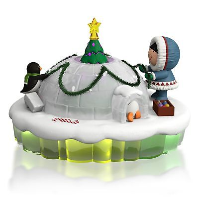 2015 Hallmark DOME FOR THE HOLIDAYS Magic Cord FROSTY FRIENDS Mantlescape
