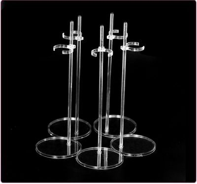 Transparent Doll Stand Display Holder Dollhouse Suitable for 1/6 Dolls 5 pcs/lot