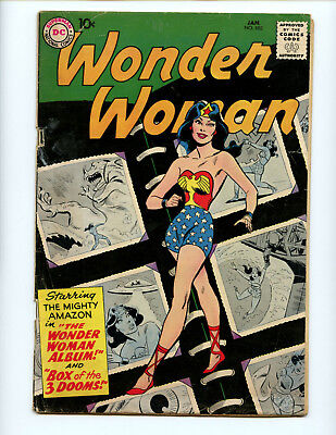 Wonder Woman 103 tough 1950s issue, fetching cover scrapbook