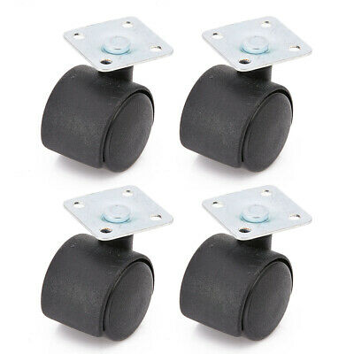 4 Heavy Duty 30mm Swivel Plate Castor Nylon Wheel Chair Table Caster Replacement