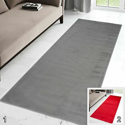 Hallway Runner Rug Grey Red Extra Very Long Narrow Modern Rugs Runners for Hall