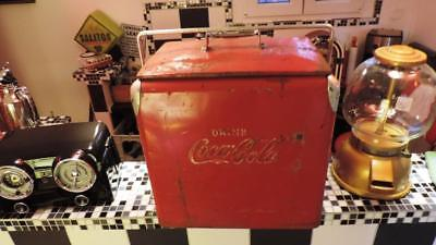 Acton Coca Cola Dispenser 50er Jahre USA Coke Cooler Picknick Truhe Retro Antik