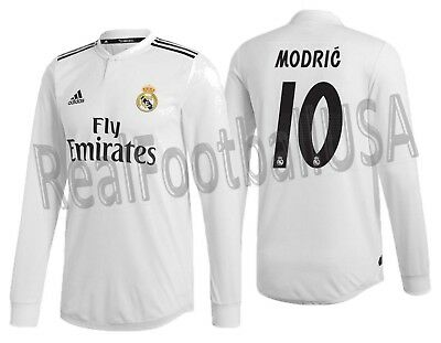 201b20fe8 Adidas Luka Modric Real Madrid Long Sleeve Authentic Match Home Jersey  2018/19.