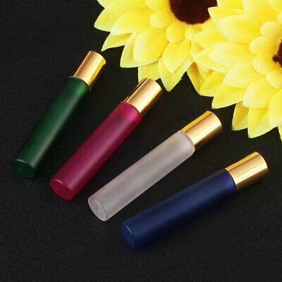 5pcs 5/10 ml Glass Roller Ball Bottles Aromatherapy Roll-on Bottles Container