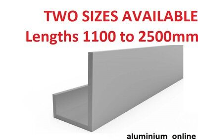 ALUMINIUM CHANNEL UNEQUAL  U  PROFILE  13mm and 20mm internal measurements