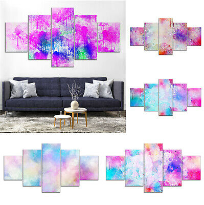 Modern Abstract Canvas Print Painting Framed Home Decor Wall Art mm Poster 5Pcs