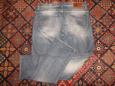G-STAR Jeans blau vintage used look gstar pants straight leg Gr. 38/36