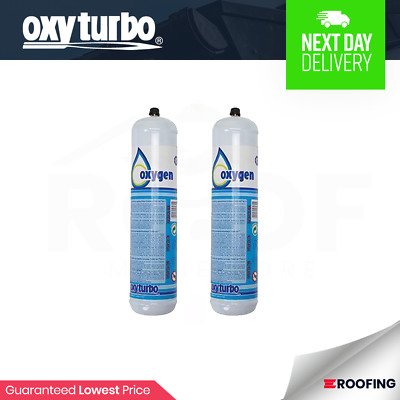 2x Oxyturbo Oxgyen Cylinders Turbo Set 90 Kit | Oxgyen Refill | Welding Kit