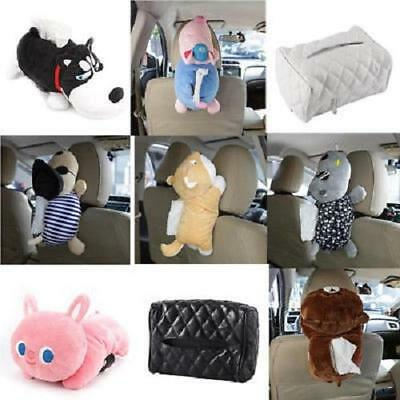Universal Auto Car Tissue Box PU Leather/Plush Tissue Holder Pumping Paper Case