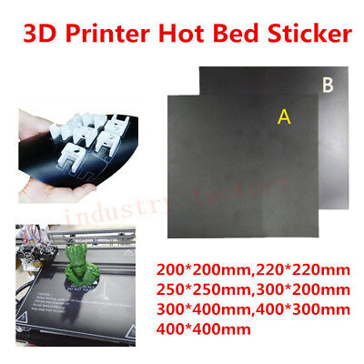 Square Heat Hot Bed Sticker For 3D Printer Surface Build Plate Magnetic Adhesive