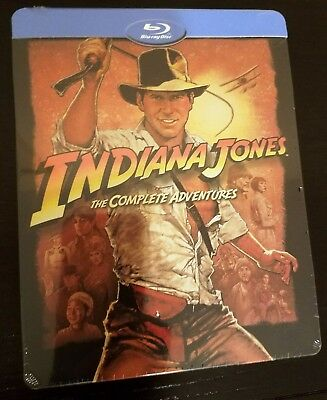 INDIANA JONES 4-Movie Complete Adventures Collection BluRay STEELBOOK Import