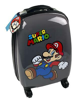 Super Mario Official Nintendo Game Kid's Hard Carry On Suitcase with Wheels