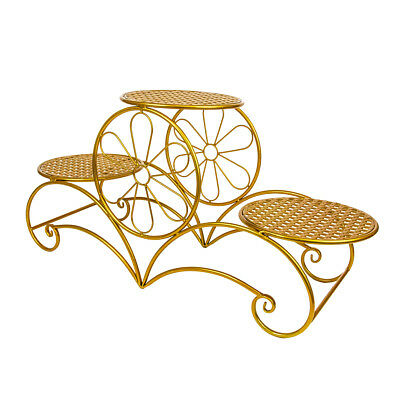CAKE STAND ORNATE THREE TIER - Gold | Display Stand