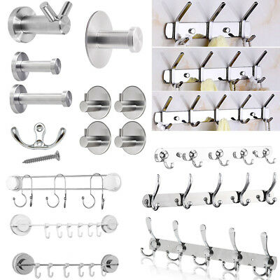 Stainless Steel Wall Mount Towel Clothes Hook Coat Hat  Robe Holder Hanger Home