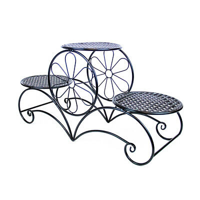 CAKE STAND ORNATE THREE TIER - Black | Display Stand