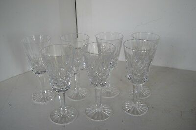 Vintage Waterford Drinking Glasses Wine Sherry Crystal Lot of 7 Lismore