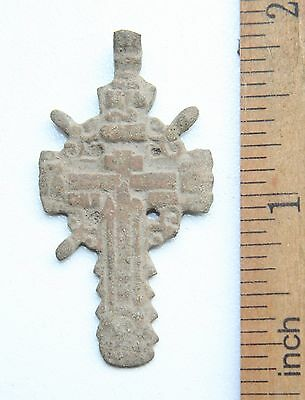 Ancient Old Bronze Golgotha Cross (JUL10)