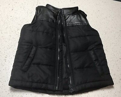Pumpkin Patch Toddler Boys Puffer Vest Size 2. Black Vest Boys Size 2