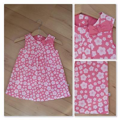 New Baby Girls Pink White Floral Dress 6-9 Months Mothercare Cotton Lined Dress