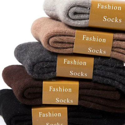 Mens Women Thick Thermal Wool Cashmere Casual Sports Winter Floor Warm Socks su