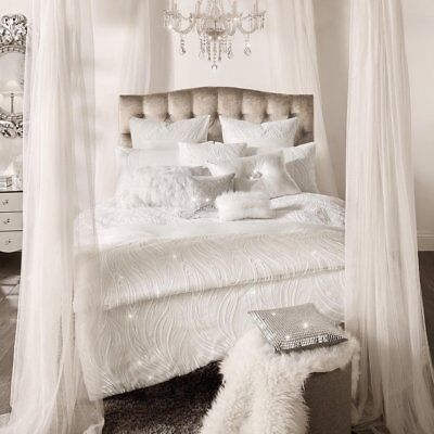 NEW Kylie Minogue Designer Bedding RENATA Oyster Sequins Embroidered Elegant