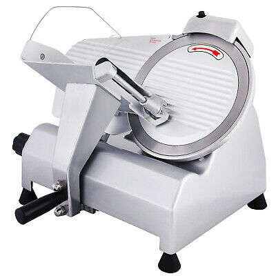 """10"""" Blade Electric Automatic Meat Slicer Cutter Frozen Meat Semi-Auto"""